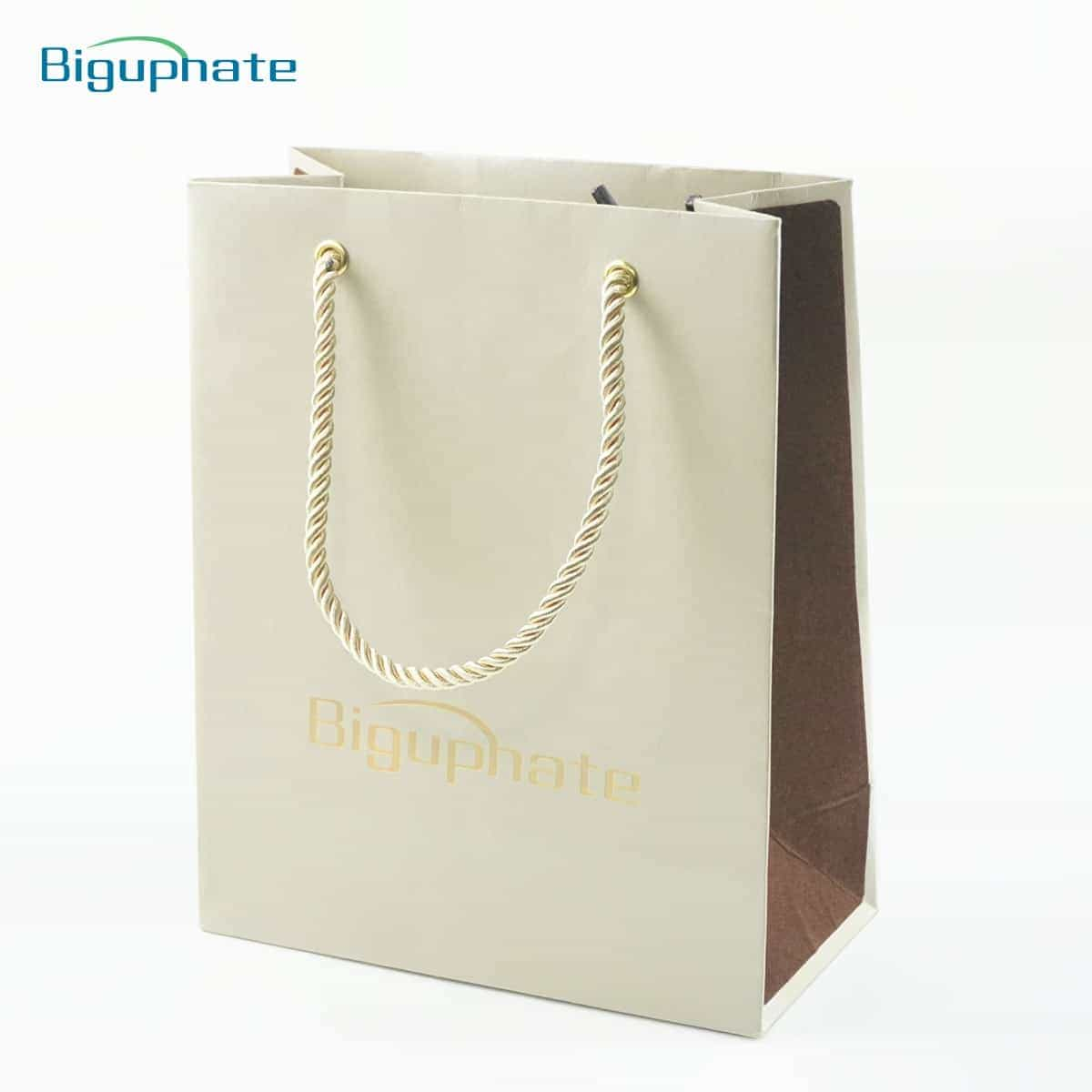 Elegant cotton rope paper bag