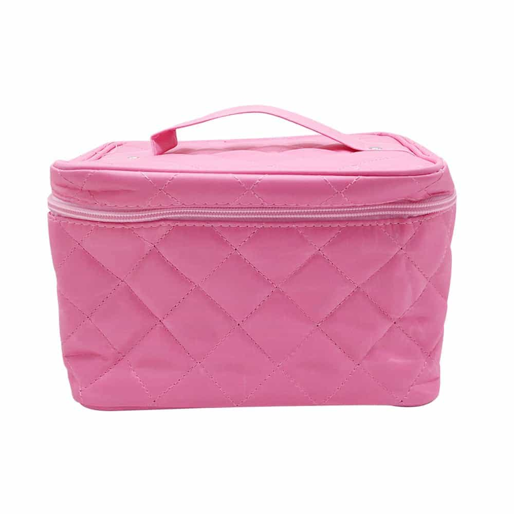 Simple pink zipper handle bag