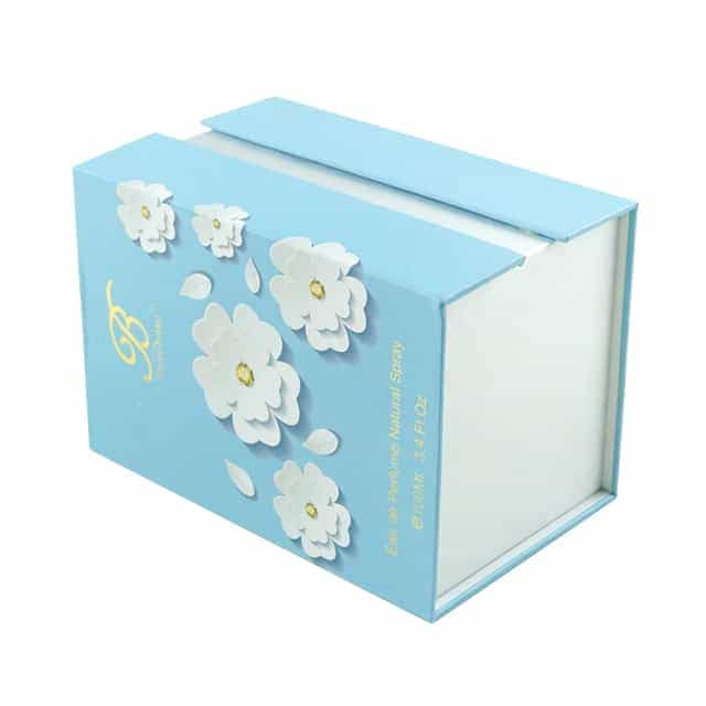 Blue flower magnetic box