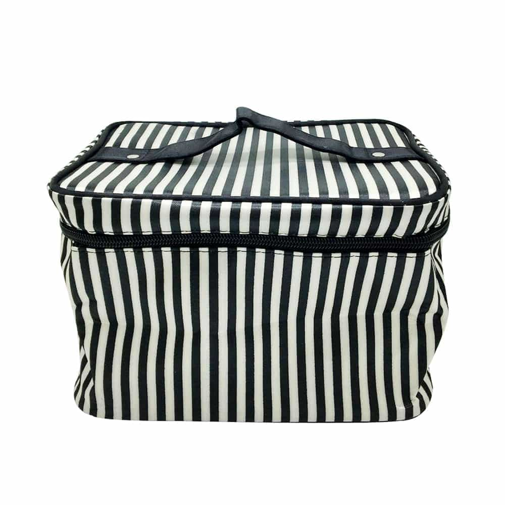 Personalized striped big capacity design handle bag