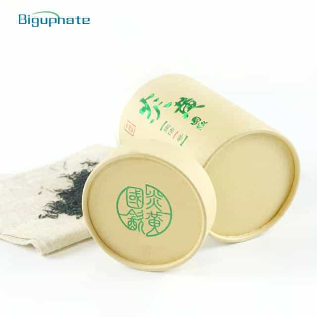 Kraft tube box with Laser green stamping