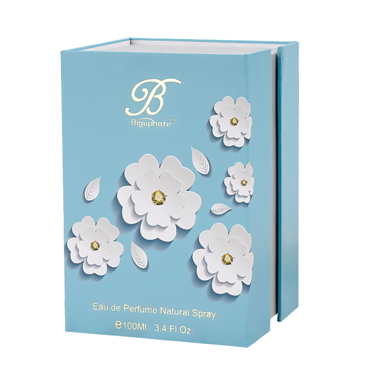 Blue Flower Flip Cover Box